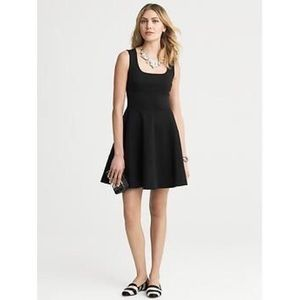 Banana Republic Fit and Flare Ponte Knit Dress LBD